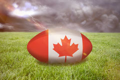 Imagem composta da bola de rugby de Canadá Foto de Stock