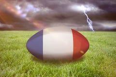 Imagem composta da bola de rugby de france Foto de Stock