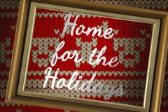 Imagem composta da casa para os feriados ilustração royalty free