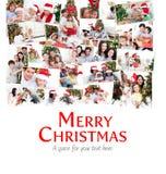 Imagem composta da colagem das famílias que comemoram o Natal Fotos de Stock