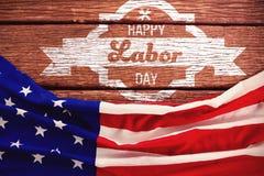 Imagem composta da imagem composta digital da bandeira feliz do Dia do Trabalhador Foto de Stock Royalty Free