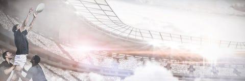 Imagem composta da imagem do gráfico de computador do estádio Imagem de Stock