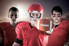 Imagem composta da equipa de futebol americana imagens de stock royalty free