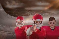 Imagem composta da equipa de futebol americana fotos de stock