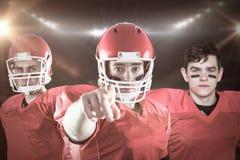 Imagem composta da equipa de futebol americana 3D Foto de Stock Royalty Free