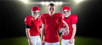 Imagem composta da equipa de futebol americana 3D Imagem de Stock