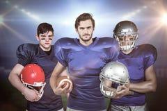 Imagem composta da equipa de futebol americana 3D Fotografia de Stock