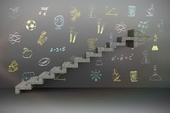 Imagem composta da imagem composta das etapas que movem foto de stock