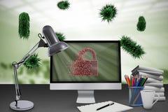 Imagem composta da imagem digital do fechamento cinzento 3d Fotografia de Stock Royalty Free