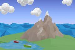 Imagem composta da imagem digitalmente gerada de cristais modelados Imagem de Stock