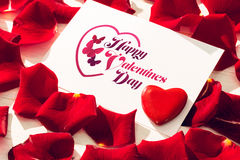 Imagem composta da mensagem dos Valentim Imagens de Stock