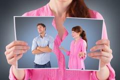 Imagem composta da mulher que discute com o homem insensível Imagens de Stock
