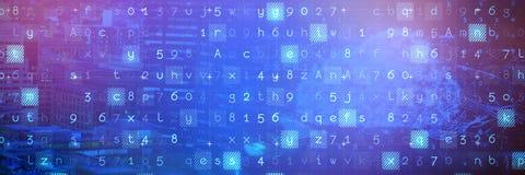 Imagem composta da nuvem e do malware detectados no fundo binário imagem de stock