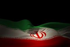 Imagem composta da ondulação da bandeira de Irã Imagens de Stock