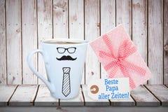 Imagem composta da palavra do dia de pais Foto de Stock