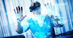 Imagem composta da relação futurista da tecnologia Fotos de Stock Royalty Free