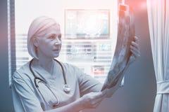 Imagem composta da relação médica da biologia em 3d azul Fotografia de Stock