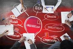 Imagem composta da reunião de negócios Imagens de Stock