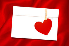 Imagem composta da seda vermelha Imagem de Stock