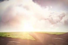 Imagem composta da vista idílico do sol sobre o cloudscape durante o dia ensolarado Imagens de Stock Royalty Free