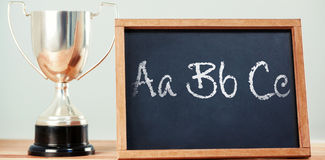 Imagem composta das letras no fundo branco Fotografia de Stock
