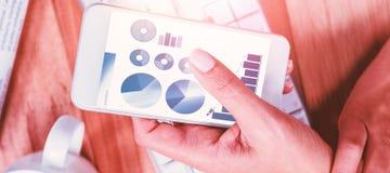 Imagem composta de ícones azuis no fundo branco Imagens de Stock Royalty Free