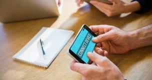 Imagem composta de ícones dos apps do smartphone Imagem de Stock