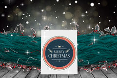 Imagem composta de desenhos animados bonitos Papai Noel Imagem de Stock
