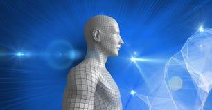Imagem composta de Digitas do ser humano 3d Imagens de Stock Royalty Free