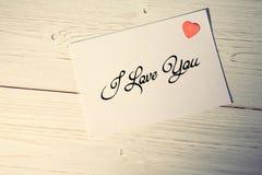 Imagem composta de eu te amo Foto de Stock