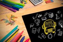 Imagem composta de garatujas da educação Fotografia de Stock