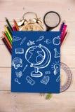 Imagem composta de garatujas da educação Imagem de Stock Royalty Free