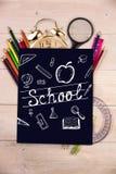 Imagem composta de garatujas da educação Foto de Stock Royalty Free