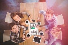 A imagem composta de handdrawn ilustra o Web site Fotografia de Stock