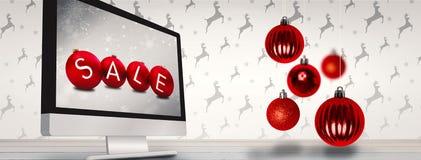 Imagem composta de quinquilharias do Natal Imagens de Stock Royalty Free