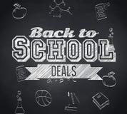 A imagem composta de volta à escola negocia a mensagem Imagens de Stock Royalty Free
