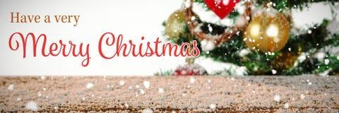 Imagem composta do cartão de Natal fotos de stock