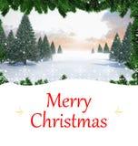 Imagem composta do cartão de Natal Foto de Stock