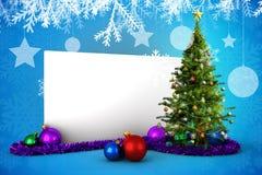Imagem composta do cartaz com árvore de Natal Imagem de Stock