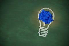 A imagem composta do close-up do azul vazio amarrotou o papel fotografia de stock royalty free