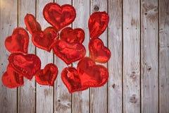 A imagem composta do coração balloons 3d Fotografia de Stock Royalty Free