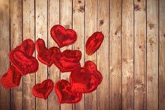A imagem composta do coração balloons 3d Foto de Stock Royalty Free