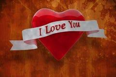 Imagem composta do coração com rolo 3d Fotos de Stock