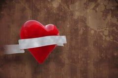 Imagem composta do coração com rolo 3d Fotografia de Stock