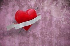 Imagem composta do coração com rolo 3d Fotografia de Stock Royalty Free