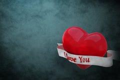 Imagem composta do coração com rolo 3d Imagem de Stock