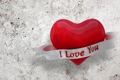 Imagem composta do coração com rolo 3d Foto de Stock Royalty Free