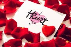Imagem composta do coração de i você Fotografia de Stock Royalty Free