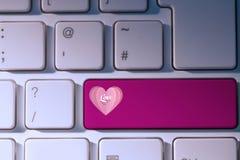Imagem composta do coração do amor Fotografia de Stock