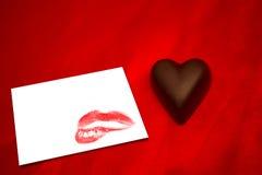 Imagem composta do coração do chocolate Foto de Stock Royalty Free